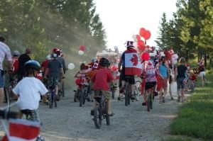 Canada Day 2011 Parade Begins at Koocanusa