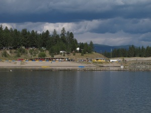 View of Koocanusa Campsite from the Lake