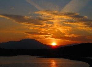 Sunrise over Koocanusa