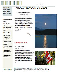 Koocanusa Campsite March 2015