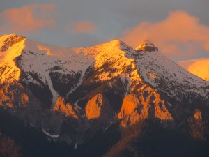 Sunset on Mount Zelda, Elko, BC by Keya