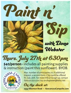 Paint n' Sip with Ilona Webster