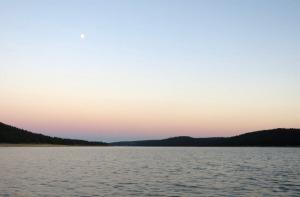 Moonrise over Koocanusa - by Keya
