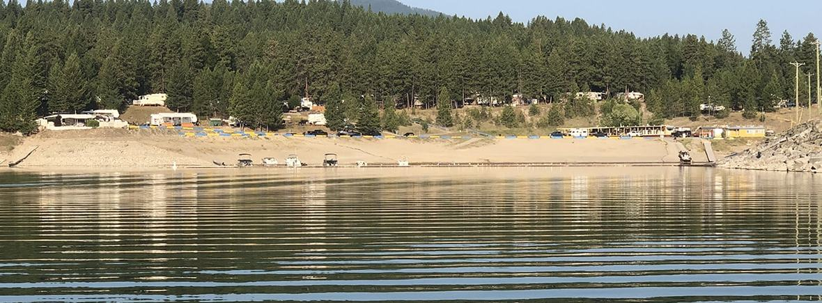 Koocanusa Campsite from the water