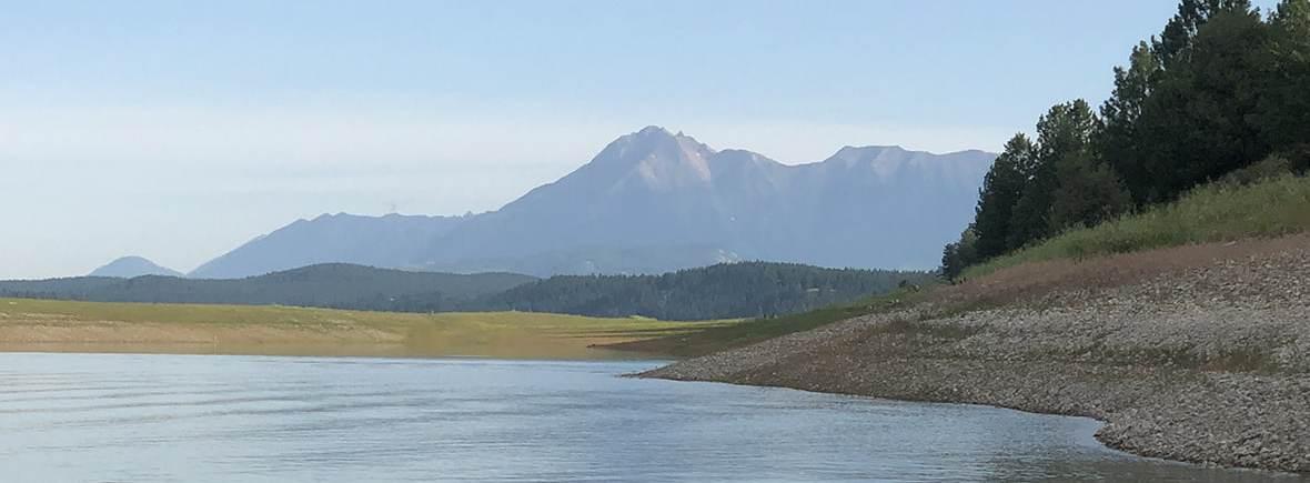 Looking towards the Steeples from Lake Koocanusa
