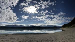 Morning views from Umbrella Beach at Lake Koocanusa, BC